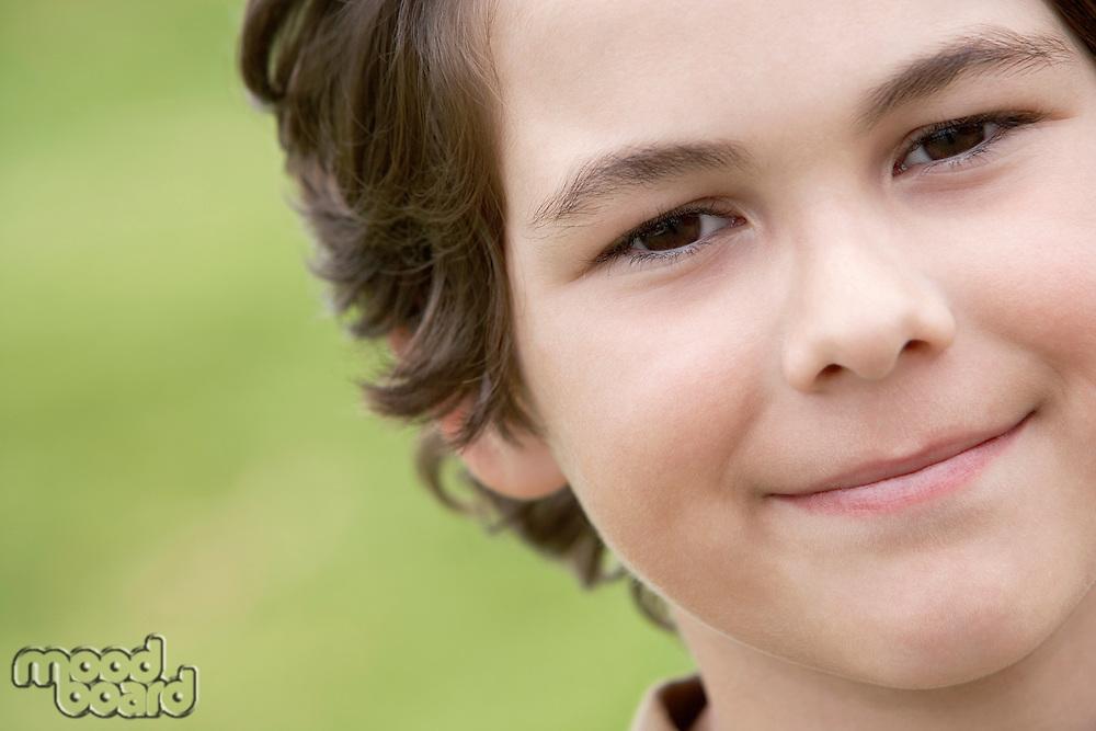 Smiling Pre-teen boy close-up