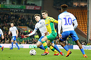 Norwich City midfielder Kenny McLean (23) on the ball during the The FA Cup 3rd round match between Norwich City and Portsmouth at Carrow Road, Norwich, England on 5 January 2019.