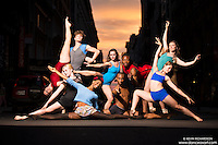 Manhattanhenge New York City- Dance As Art Photography Project featuring dancers, Erika Citrin, Keenan Woods, Alyssa Ness, Ayana, Ashtyn Muzio, Daniel White, Kevin Mimms, Natalie Walters and Laura Spiegel.