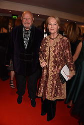 Steven Berkoff and Clara Fischer at the Chain of Hope Gala Ball held at the Grosvenor House Hotel, Park Lane, London England. 17 November 2017.<br /> Photo by Dominic O'Neill/SilverHub 0203 174 1069 sales@silverhubmedia.com