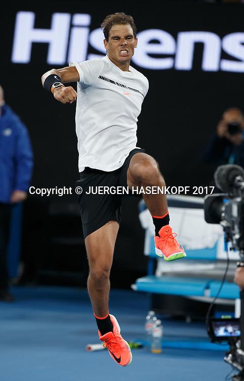RAFAEL NADAL (ESP)<br /> <br /> Australian Open 2017 -  Melbourne  Park - Melbourne - Victoria - Australia  - 25/01/2017.