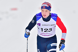 BYE Eirik Guide: NELSON Arvid, NOR, B3 at the 2018 ParaNordic World Cup Vuokatti in Finland
