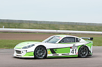 #41 Tania Mann/Matt Draper - Optimum Motorsport, Ginetta G55 GT4 during British GT Championship race at Rockingham, Corby, Northamptonshire, United Kingdom. May 05 2014. World Copyright Peter Taylor/PSP. Copy of publication required for printed pictures.  Every used picture is fee-liable. http://archive.petertaylor-photographic.co.uk