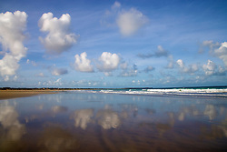 Reflections on Broome's Cable Beach in the Kimberley wet season.
