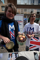 UK ENGLAND CANTERBURY 14MAY16 - The Vote Remain campaign stall at Canterbury High Street.<br /> <br /> jre/Photo by Jiri Rezac<br /> <br /> © Jiri Rezac 2016