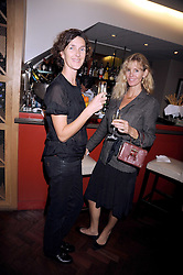 Left to right, ZSA ZSA GEERY and CARINA COOPER at a dinner hosted by Kathryn Ireland at Lucio, 257-259 Fulham Road, London SW3 on 24th September 2008.