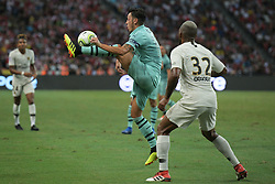2018?7?28?.??????——?????????????????????????..7?28????????Mesut Ozil?10???????????????Kevin Rimane?32???????????????????????????.???? ??????..Arsenal player Mesut Ozil (No 10, R2) and Paris Saint-Germain player Kevin Rimane (No 32, R1) fights for the ball in the International Champions Cup match between Arsenal and Paris Saint-Germain held in Singapore's National Stadium on Jul 28, 2018..By Xinhua, Then Chih Wey..??????????2018?7?28? (Credit Image: © Then Chih Wey/Xinhua via ZUMA Wire)