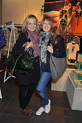 Left to right, TWIGGY and her daughter CARLY LAWSON at the Launch Of The Marni For H&M Collection held at H&M Regent Street, London on 7th March 2012.