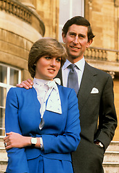 "Embargoed to 0001 Monday August 21 File photo dated 24/2/1981 of the Prince of Wales and Lady Diana Spencer in the grounds of Buckingham Palace after announcing their engagement. Diana, Princess of Wales describes in a new documentary how her future husband the Prince of Wales was all over her ""like a bad rash"" at the start of their courtship. ... Princess Diana Channel 4 documentary ... 30-07-2017 ... LONDON ... UK ... Photo credit should read: PA/PA Wire. Unique Reference No. 32232920 ... Issue date: Sunday July 30, 2017. Diana reveals Charles' attempts to woo her during a barbecue in Sussex in 1979 when she was 18 was not very romantic. See PA story ROYAL Diana Charles. Photo credit should read: PA/PA Wire"