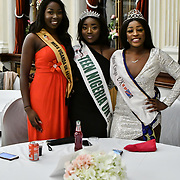 Miss Uganda UK 2019 Caitlin Ochana, Miss Teen Nigeria UK 2019 - Anna-Marie Uzokwe and Miss Congo UK 2018-2019 Deborah Tedika  attend the Mr & Miss Congo 2020,on 29th February 2020 at Old Townhall,Stratford, London, UK.