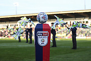 Matchball plinth during the EFL Sky Bet League 2 second leg Play Off match between Forest Green Rovers and Tranmere Rovers at the New Lawn, Forest Green, United Kingdom on 13 May 2019.