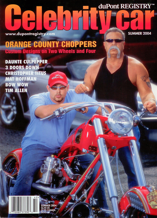 Magazine Cover - Celebrity Car Orange County Choppers