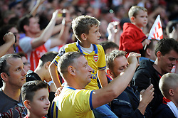 Arsenal fans take photos at the end of the game after Arsenal win the Community Shield - Photo mandatory by-line: Dougie Allward/JMP - Mobile: 07966 386802 10/08/2014 - SPORT - FOOTBALL - London - Wembley Stadium - Arsenal v Manchester City - FA Community Shield