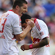 Kenny Cooper, New York Red Bulls, screams in frustration  with team mate Tim Cahill after missing a shot at goal during the New York Red Bulls V Chicago Fire Major League Soccer regular season match at Red Bull Arena, Harrison. New Jersey. USA. 6th October 2012. Photo Tim Clayton