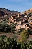 Morocco  Atlas mountain ,Tahanaoute a village of the Atlas