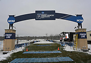 Nov 17, 2018; Madison, WI, USA; General overall view of the finish line at the NCAA Cross Country Championships at the Thomas Zimmer Championship Course.