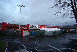 A general view of the Wham Stadium, home of Accrington Stanley - Mandatory by-line: Joe Dent/JMP - 28/01/2020 - FOOTBALL - Wham Stadium - Accrington, England - Accrington Stanley v Peterborough United - Sky Bet League One