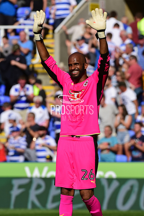 Reading goalkeeper Ali Al-Habsi (26) thanks the fans after a 1-0 win during the EFL Sky Bet Championship match between Reading and Preston North End at the Madejski Stadium, Reading, England on 6 August 2016. Photo by Jon Bromley.