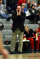 10 January 2015:  Tim Bernero during an NCAA women's division 3 CCIW basketball game between the Carthage Reds and the Illinois Wesleyan Titans in Shirk Center, Bloomington IL