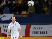A dejected Wayne Rooney (England) during the 2010 FIFA World Cup South Africa Group C match between England and USA at the Royal Bafokeng Stadium on June 12, 2010 in Rustenburg, South Africa.