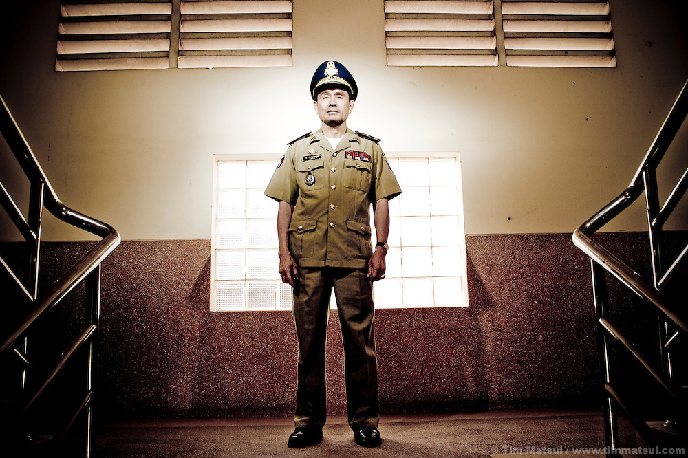 Brigadier General Bith Kimhong who heads the National Police Task Force for Anti-Human Trafficking and Juvenile Protection at the Ministry of Interior in Phnom Penh. Cambodian police are often considered implicit in human trafficking or other crimes either through direct action or through bribery and corruption however, Kimhong is credited with supporting successful, high profile arrests of traffickers.