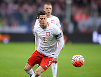2016.03.23 Poznan<br /> Pilka Nozna Reprezentacja Mecz towarzyski<br /> Polska - Serbia<br /> N/z Robert Lewandowski<br /> Foto Rafal Rusek / PressFocus<br /> <br /> 2016.03.23 Poznan<br /> Football Friendly Game<br /> Poland - Serbia<br /> Robert Lewandowski<br /> Credit: Rafal Rusek / PressFocus