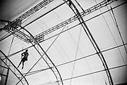 Behind the scene at the Trapeze School New York (TSNY) in Washington DC.