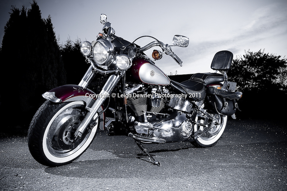Harley Davidson motor cycle. Photography by Leigh Dawney 2011.