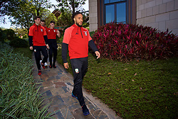 NANNING, CHINA - Tuesday, March 20, 2018: Wales' captain Ashley Williams during a team walk at the Wanda Realm Resort ahead of the 2018 Gree China Cup International Football Championship. (Pic by David Rawcliffe/Propaganda)