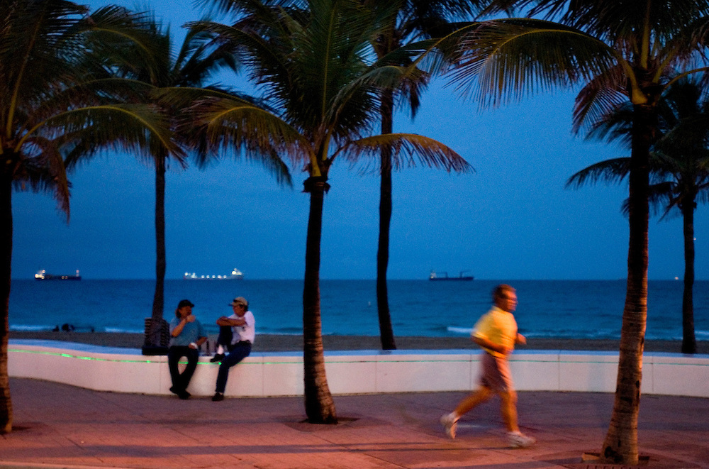 Travel story about Fort Lauderdale, Florida.N Ocean Drive at night..Photographer: Chris Maluszynski /MOMENT