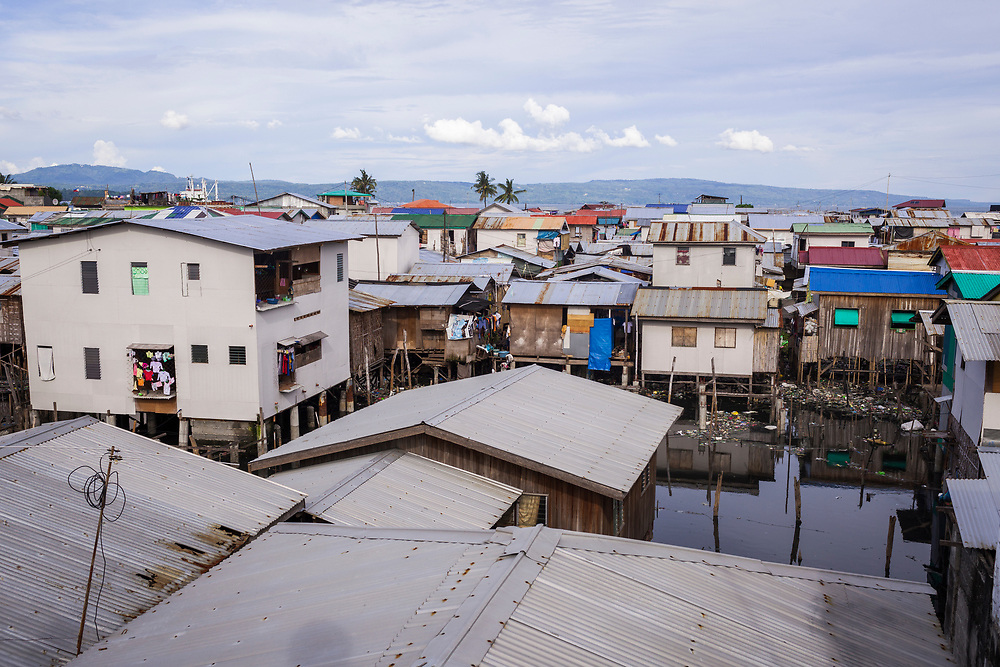 Davao City, Mindanao, Philippines - JUNE 22: A view of Mini Forest Barangay 23C.  Thousands have fled Marawi to flee the ongoing conflict after the ISIS backed Maute Group has sieged the city.