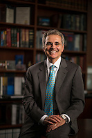 MD Anderson President Ronald DePinho, M.D., Thursday, Dec. 4, 2014 in Houston.