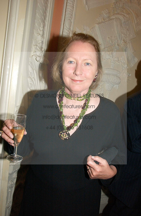 Writer SARAH BRADFORD she is Lady Bangor, at a party to celebrate the publication of 'A History of The English Speaking Peoples Since 1900' hosted by Andrew Roberts and Susan Gilchrist at the English-Speaking Union, 37 Charles Street, London W1 on 11th September 2006.<br /><br />NON EXCLUSIVE - WORLD RIGHTS