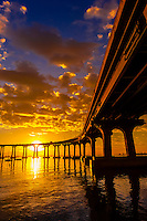 Coronado Bridge at sunrise, Coronado Island (San Diego), California USA.