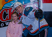 KELOWNA, CANADA - JANUARY 05:  Home Hardware winner with Jack Cowell at the Kelowna Rockets game on January 05, 2018 at Prospera Place in Kelowna, British Columbia, Canada.  (Photo By Cindy Rogers/Nyasa Photography,  *** Local Caption ***