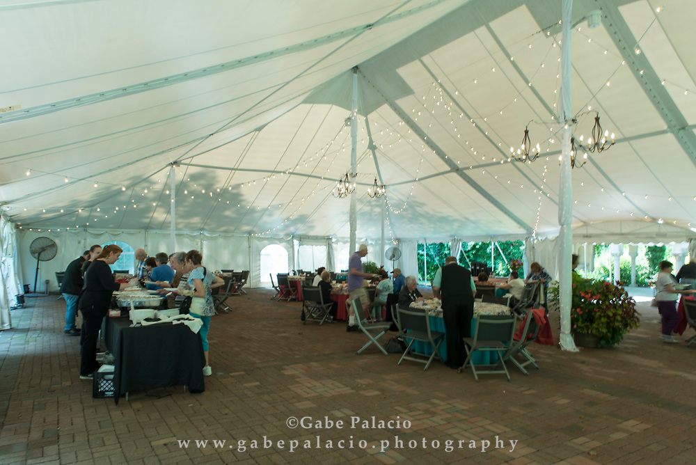 Luncheon in the Pavillion at Caramoor in Katonah New York on September 13, 2017. <br /> (photo by Gabe Palacio)