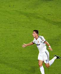 Cristiano Ronaldo scores for Real Madrid. Barcelona v Real Madrid, Supercopa first leg, Camp Nou, Barcelona, 23rd August 2012...Credit : Eoin Mundow/Cleva Media