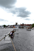 Henley, GREAT BRITAIN,   General Views, Henley course and Spectators. 2012 Henley Royal Regatta. Friday  17:23:52  29/06/2012. [Mandatory Credit, Peter Spurrier/Intersport-images] ..Rowing Courses, Henley Reach, Henley, ENGLAND . HRR.