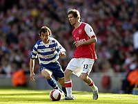 Photo: Olly Greenwood.<br />Arsenal v Reading. The Barclays Premiership. 03/03/2007. Reading's Stephen Hunt and Arsenal's Alexander Hleb