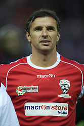 DERBY, ENGLAND - Thursday, September 8, 2011: Wales Legends' Gary Speed MBE in action against England Legends during a legends match at Pride Park. (Pic by David Rawcliffe/Propaganda)
