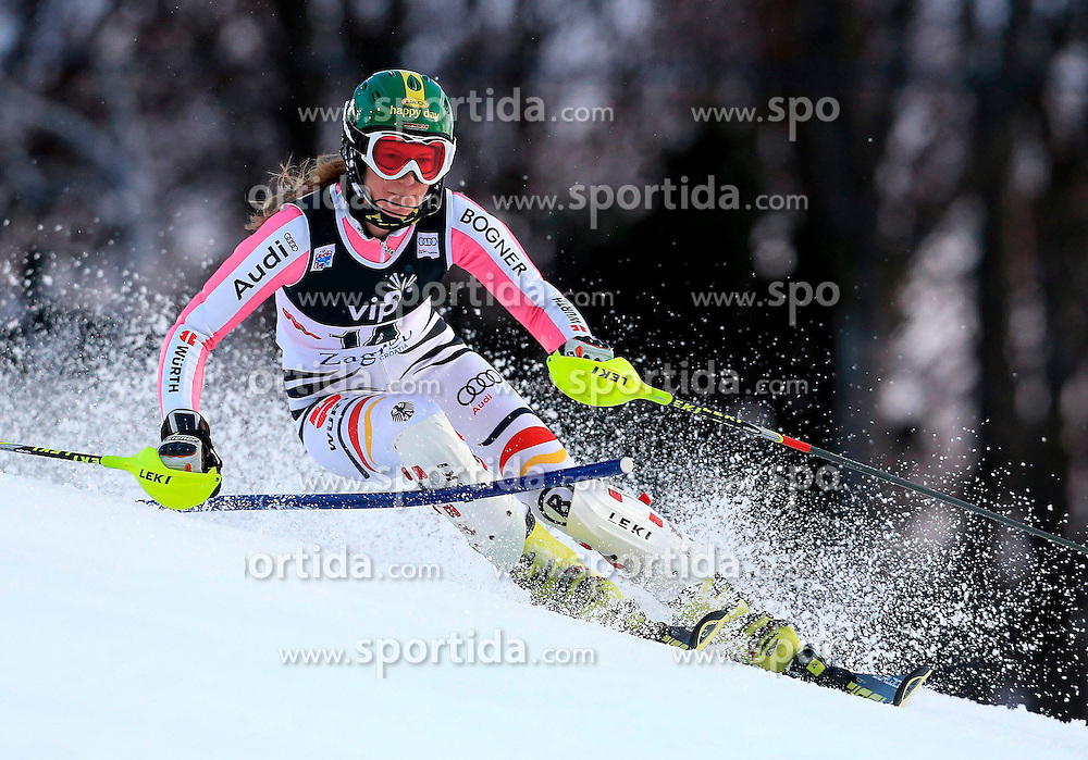 04.01.2013, Crveni Spust, Zagreb, AUT, FIS Ski Alpin Weltcup, Slalom, Damen, 1. Lauf, im Bild Lena Duerr (GER) // Lena Duerr of Germany in action during 1st Run of the ladies Slalom of the FIS ski alpine world cup at Crveni Spust course in Zagreb, Croatia on 2013/01/04. EXPA Pictures © 2013, PhotoCredit: EXPA/ Pixsell/ Jurica Galoic..***** ATTENTION - for AUT, SLO, SUI, ITA, FRA only *****
