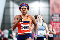 womens 400 heat 6, Alexis Crosby, Syracuse<br /> David Hemery Valentine Invitational<br /> Indoor Track & Field at Boston University