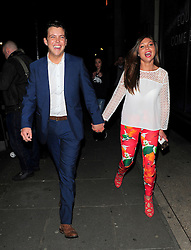 TOWIE stars James 'Diags' Bennewith and Fran Parman attend the James' Jog-on to Cancer Part 2! at Kensington Roof Gardens in London, UK. 09/04/2014<br />BYLINE MUST READ : GOTCHAIMAGES.COM<br /><br />Copyright by © Gotcha Images Ltd. All rights reserved.<br />Usage of this image is conditional upon the acceptance <br />of Gotcha Images Ltd, terms and conditions available at<br />www.gotchaimages.com