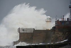 © Licensed to London News Pictures. 21/01/2013..Teesside, England, UK..Heavy seas pound the Northeast coast on Teesside...Photo credit : Ian Forsyth/LNP.