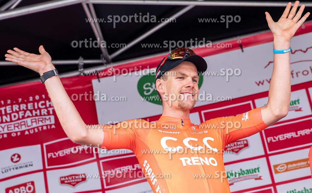 09.07.2019, Frohnleiten, AUT, Ö-Tour, Österreich Radrundfahrt, 3. Etappe, von Kirchschlag nach Frohnleiten (176,2 km), im Bild Jonas Koch (CCC Team, GER, rotes Trikot) // red jersey Jonas Koch (CCC Team GER) during 3rd stage from Kirchschlag to Frohnleiten (176,2 km) of the 2019 Tour of Austria. Frohnleiten, Austria on 2019/07/09. EXPA Pictures © 2019, PhotoCredit: EXPA/ Johann Groder