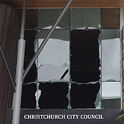 The Christchurch City Council building in Christchurch after a Powerful earth quake ripped through Christchurch, New Zealand on Tuesday lunch time killing at least 65 people as it brought down buildings, buckled roads and damaged houses, churches and the Cities Cathedral. 23rd February 2011.  Photo Tim Clayton