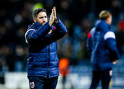 Bristol City Head Coach Lee Johnson thanks the away fans after the game ends in a 1-1 draw - Rogan/JMP - 23/12/2017 - Loftus Road - London, England - Queens Park Rangers v Bristol City - Sky Bet Championship.