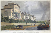 Horse hauling a barge on the Regent's Canal at Park Village East, London.  Illustration by Thomas Hosmer Shepherd (c1817-c1842) from 'London and its Environs in the Nineteenth Century' (London, 1829).