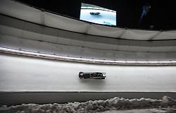 12.02.2016, Olympiaeisbahn Igls, Innsbruck, AUT, FIBT WM, Bob und Skeleton, Zweierbob Damen, 2. Lauf, im Bild v.l. Katrin Beierl, Karlien Sleper (AUT) // Katrin Beierl and Karlien Sleper of Austria competes during two woman Bobsleigh 2nd run of FIBT Bobsleigh and Skeleton World Championships at the Olympiaeisbahn Igls in Innsbruck, Austria on 2016/02/12. EXPA Pictures © 2016, PhotoCredit: EXPA/ Johann Groder