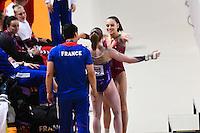 Camille Bahl / Claire Martin - 15.04.2015 - Qualifications - Championnats d'Europe Gymnastique artistique - Montpellier<br />Photo : Andre Delon / Icon Sport